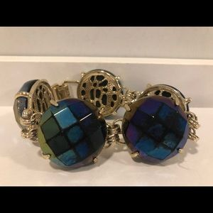 Kendra Scott Black iridescent Cassie bracelet